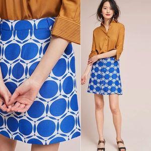 ANTHROPOLOGIE MAEVE Kandinsky Skirt Blue White 16